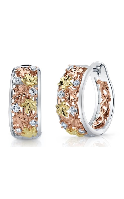 Maple Leaf Diamonds™ Autumn Falling Leaves Hoop Earrings EE4021TR/50 product image