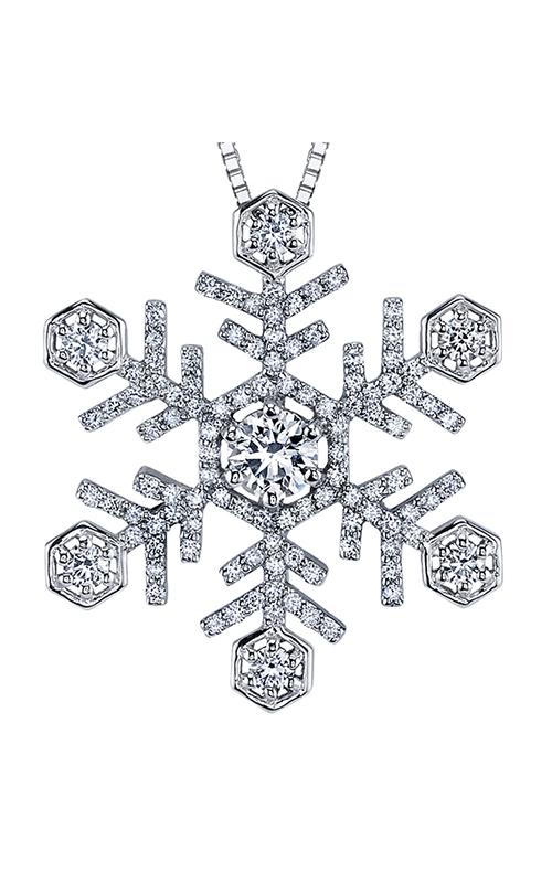 Maple Leaf Diamonds™ Winter Large Snowflake Pendant PP3624W/70C product image