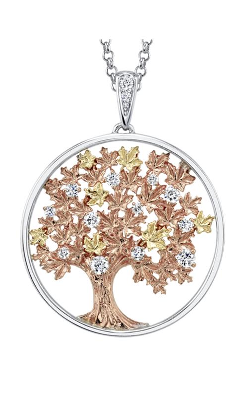 Maple Leaf Diamonds™ Autumn Oak Tree Medallion Pendant PP4020TR/55C product image