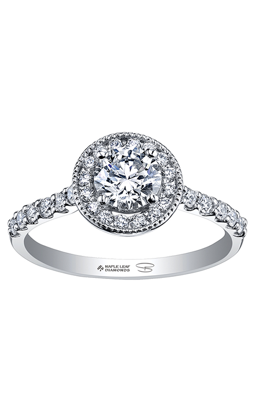 Maple Leaf Diamonds™ Spring Lily Halo Ring R30080WG/110-18 product image