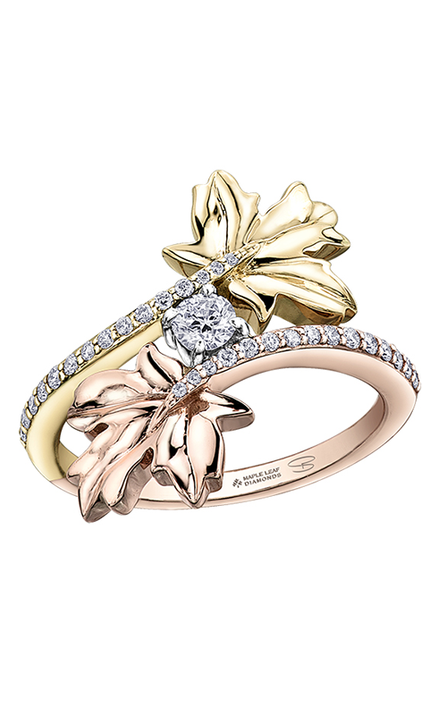 Maple Leaf Diamonds™ Bypass Maple Leaf Ladies Fashion Ring R52F13TR/30 product image