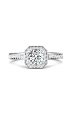Martin Flyer Micropave Halo Engagement ring 5204SACQ-D-5.5RD product image