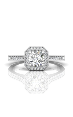 Martin Flyer Micropave Halo Engagement ring 5204SACQ-F-5.5RD product image