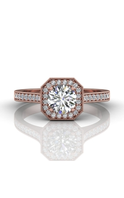 Martin Flyer Micropave Halo Engagement ring 5204SACPZ-F-5.5RD product image