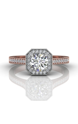 Martin Flyer Micropave Halo Engagement ring 5204SACTTPQ-F-5.5RD product image