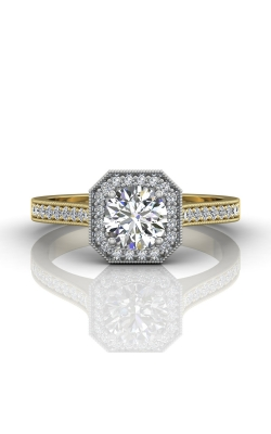 Martin Flyer Micropave Halo Engagement ring 5204SACTTYQ-F-5.5RD product image