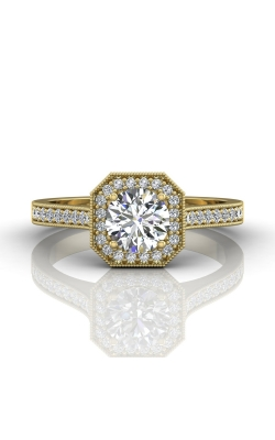 Martin Flyer Micropave Halo Engagement ring 5204SACYQ-C-5.5RD product image