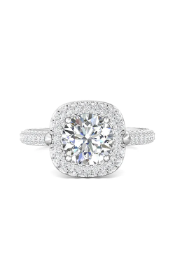Martin Flyer Micropave Halo Engagement ring 5211SCUEPL-C-7.5RD product image