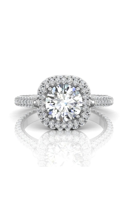 Martin Flyer Micropave Halo Engagement ring 5211SCUEQ-F-7.5RD product image