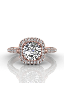 Martin Flyer Micropave Halo Engagement ring 5211SCUEPQ-C-7.5RD product image