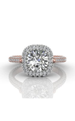 Martin Flyer Micropave Halo Engagement ring 5211SCUETTPQ-F-7.5RD product image