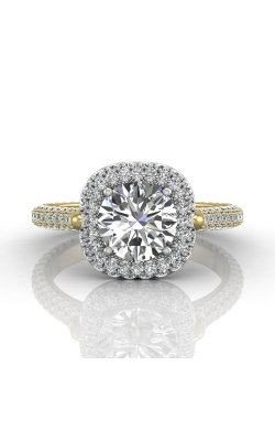 Martin Flyer Micropave Halo Engagement ring 5211SCUETTYQ-F-7.5RD product image