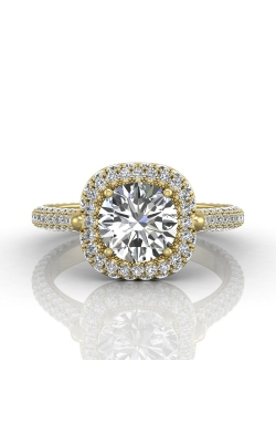 Martin Flyer Micropave Halo Engagement ring 5211SCUEYQ-C-7.5RD product image
