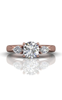 Martin Flyer Three Stone Engagement Ring CT03SPSPQ-C-7.0RD product image