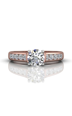 Martin Flyer Channel & Shared Prong Engagement ring DERC01STTPQ-F-6.5RD product image