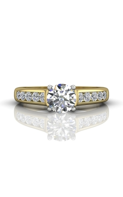 Martin Flyer Channel & Shared Prong Engagement ring DERC01STTYQ-F-6.5RD product image