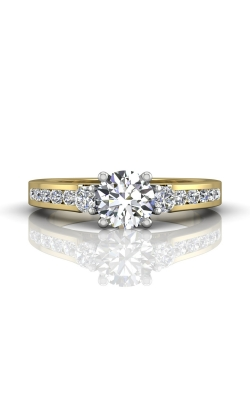 Martin Flyer Channel & Shared Prong Engagement ring DERC03XSTTYQ-F-6.0RD product image