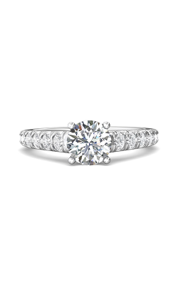 Martin Flyer Micropave Engagement ring DERM34SQ-C-7.0RD product image