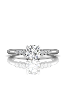 Martin Flyer Channel & Shared Prong Engagement ring DERM43XSQ-D-6.0RD product image