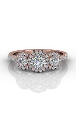 Martin Flyer Three Stone Engagement ring DERT03RDPZ-D-5.0RD product image