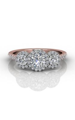 Martin Flyer Three Stone Engagement ring DERT03RDTTPQ-C-5.0RD product image