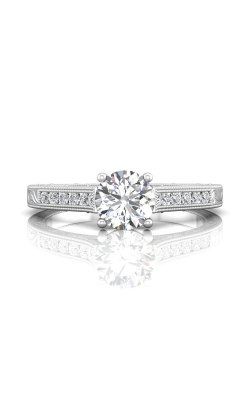 Martin Flyer Channel & Shared Prong Engagement ring VC06Q-AENG-F-6.5RD product image