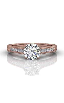 Martin Flyer FlyerFit Channel & Shared Prong Engagement Ring VC06PQ-AENG-F-6.5RD product image