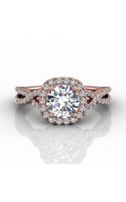 Martin Flyer Micropave Halo Engagement ring DERMH27XSCUPZ-D-6.5RD product image