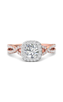Martin Flyer Micropave Halo Engagement ring DERMH27XSCUTTPZ-C-6.5RD product image