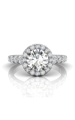 Martin Flyer Micropave Halo Engagement ring DERMH34MRDPL-D-7.5RD product image