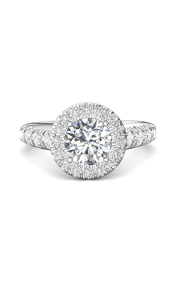 Martin Flyer Micropave Halo Engagement ring DERMH34MRDQ-C-7.5RD product image