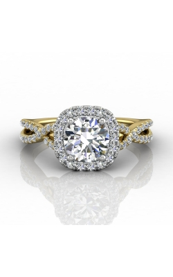 Martin Flyer Micropave Halo Engagement ring DERMH27XSCUTTYZ-F-6.5RD product image