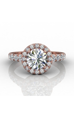 Martin Flyer Micropave Halo Engagement ring DERMH34MRDPQ-D-7.5RD product image