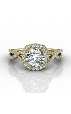 Martin Flyer Micropave Halo Engagement ring DERMH27XSCUYZ-F-6.5RD product image
