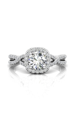 Martin Flyer Micropave Halo Engagement ring DERMH27XSCUQ-C-6.5RD product image