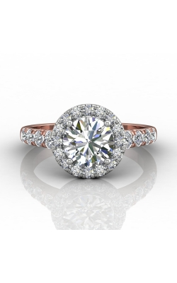 Martin Flyer Micropave Halo Engagement ring DERMH34MRDTTPZ-D-7.5RD product image
