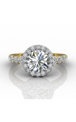 Martin Flyer Micropave Halo Engagement ring DERMH34MRDTTYQ-F-7.5RD product image