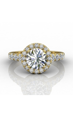 Martin Flyer Micropave Halo Engagement ring DERMH34MRDYZ-F-7.5RD product image