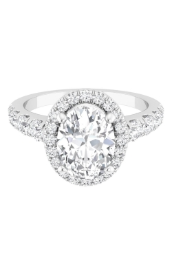 Martin Flyer Micropave Halo Engagement ring DERMH34SROVTTHPPL-D-8X6OV product image