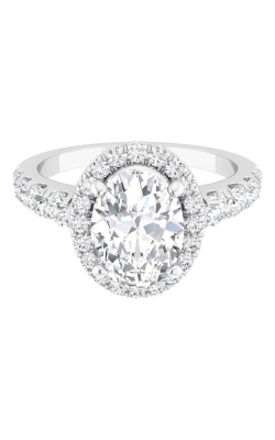 Martin Flyer Micropave Halo Engagement ring DERMH34SROVTTHPPL-F-8X6OV product image