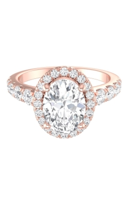 Martin Flyer Micropave Halo Engagement ring DERMH34SROVTTHPZ-F-8X6OV product image