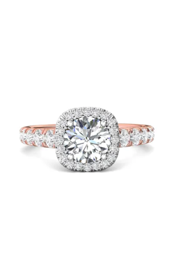 Martin Flyer Micropave Halo Engagement ring DERMH34STTPZ-F-7.0RD product image