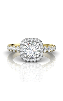 Martin Flyer Micropave Halo Engagement ring DERMH34STTYZ-C-7.0RD product image