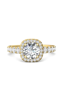 Martin Flyer Micropave Halo Engagement ring DERMH34SYZ-C-7.0RD product image