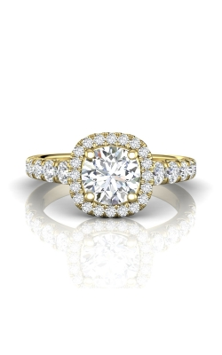 Martin Flyer Micropave Halo Engagement ring DERMH34SYZ-D-7.0RD product image