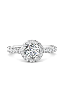 Martin Flyer Micropave Halo Engagement ring DERMH4SQ-D-6.5RD product image