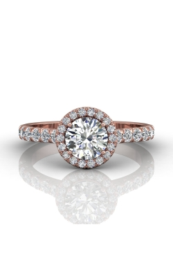 Martin Flyer Micropave Halo Engagement ring DERMH4SPQ-F-6.5RD product image