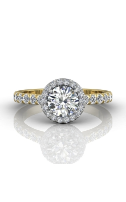 Martin Flyer Micropave Halo Engagement ring DERMH4STTYQ-D-6.5RD product image