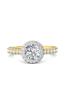 Martin Flyer Micropave Halo Engagement ring DERMH4STTYQ-F-6.5RD product image