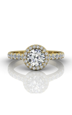 Martin Flyer Micropave Halo Engagement ring DERMH4SYZ-D-6.5RD product image